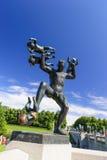 Den Vigeland skulpturordningen, Frogner parkerar, Oslo, Norge Royaltyfria Bilder
