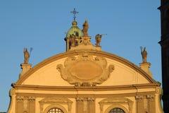 Den Vigevano domkyrkan i Vigevano, Italien arkivbild
