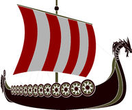 Viking ship Arkivfoto