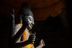 Den Vishnu gudstatyn, Siem Reap Arkivbild