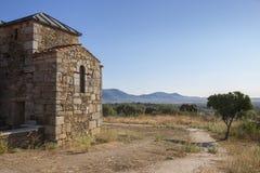 Den Visigothic basilikan av Santa Lucia del Trampal, beskådar utomhus Fotografering för Bildbyråer