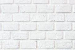 Den vita bakgrunden för tegelstenvägg Royaltyfri Foto