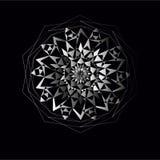 Den vita cirkeln snör åt prydnaden Vektorillustration, dekorativ bakgrund Royaltyfria Bilder