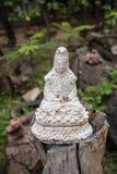Den vita Guan Yin statyn Royaltyfria Bilder