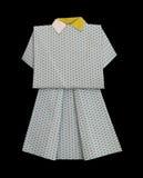 Den vita klänningen gjorde ââofpapper Royaltyfria Bilder