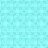 Den vita linjen kvadrerar den sömlösa modellen på blått Royaltyfria Bilder