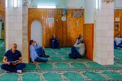 Den vita moskén i Nazareth Arkivfoto