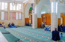 Den vita moskén i Nazareth Royaltyfria Bilder