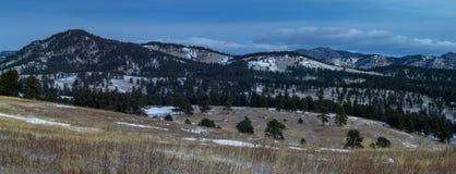 Den vita ranchen parkerar öppet utrymme fotografering för bildbyråer