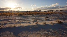 Den vita sandöknen Fotografering för Bildbyråer