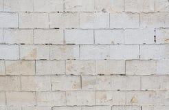 Den vita tegelstenväggen för grunge för backgroun Arkivbilder