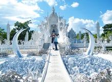 Den vita templet Royaltyfria Bilder
