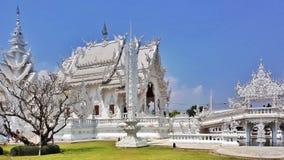 Den vita templet, Chiangrai, Thailand Royaltyfria Bilder