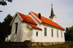 Den vita träkyrkan stal, Telemark, Norge Royaltyfri Bild