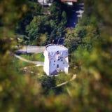 Den vita watchtoweren Arkivfoton