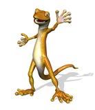 den vänliga geckoen välkomnar dig Arkivfoton