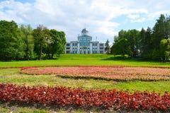 Den Vorontsov slotten eller Novoznamenka och parkerar, StPetersburg arkivfoto