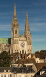 Den vår damen av den Chartres domkyrkan, Frankrike Arkivfoto