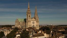 Den vår damen av den Chartres domkyrkan, Frankrike Arkivfoton