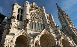 Den vår damen av den Chartres domkyrkan, Frankrike Arkivbilder