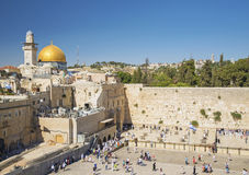 Den västra väggen i jerusalem Israel Arkivfoton