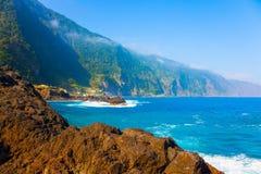 Den vulkaniska ön för paradis av madeiran Royaltyfri Foto