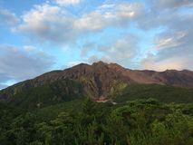 den vulkaniska Japan sakura sakurashimamonteringen kunde Fotografering för Bildbyråer