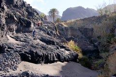 Den Vulkanstrand oben wandern Lizenzfreie Stockbilder