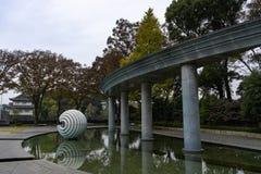 Den Wadakura springbrunnen parkerar Tokyo royaltyfria foton