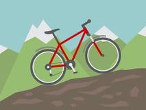In den Wald, von der Radfahrerperspektive radfahren Vektor Abbildung
