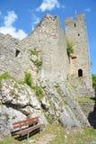 Den Waldenburg slotten fördärvar Arkivfoto