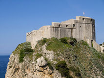 Den Walled staden av Dubrovnic i Kroatien Europa är det en av de mest ljuva turist- semesterorterna av det medelhavs- Dubrovnik ä Royaltyfria Foton