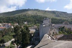 Den Walled staden av Dubrovnic i Kroatien Europa Dubrovnik ge någon ett smeknamn `-pärlan av Adriatiska havet Fotografering för Bildbyråer