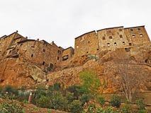 Den walled staden av Pitigliano, Italien arkivbilder