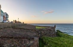 Den Walled staden av San Juan arkivfoton