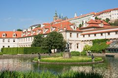 Den Wallenstein trädgården i Prague, tjeckisk republik Royaltyfri Bild