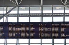 Den WarszawaChopin flygplatsen (WAW) Royaltyfri Bild