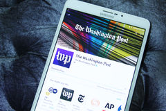 Den Washington Post mobilen app royaltyfri bild