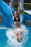In den Wasserplättchen Lizenzfreies Stockfoto