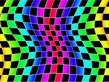 Den Wavey regnbågen squares bakgrund vektor illustrationer