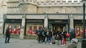 Den westminster abbotskloster shoppar Fotografering för Bildbyråer