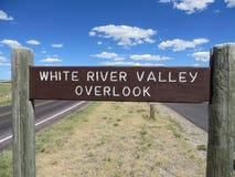 Den White River dalen förbiser, Badlands nationalparken, South Dakota Royaltyfria Foton