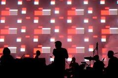 Den Wolf Alice musikbandet i konsert på den RazzmatazzstageLCDSoundsystem musikbandet utför i konsert på det Primavera ljudet 201 Royaltyfria Foton