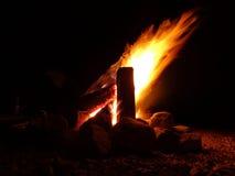 Den Wood bränningen avfyrar Arkivfoton