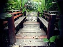 Den wood bron Royaltyfri Foto