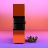 Den Wood kokkärlet 3d framför på lutningbakgrund stock illustrationer