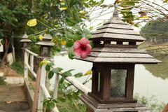 Wood lampa Arkivfoton