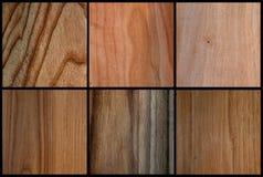 Den Wood uppsättningen texturerar fanér Arkivbilder