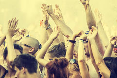 Den Woodstock festivalen, den fria öppna flygbiljetten för störst sommar vaggar musikfestival i Europa, Polen Royaltyfria Bilder