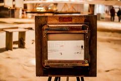Den Wright broderberättelsen med flygplanet royaltyfria bilder